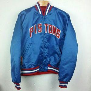 Vintage Starter Nylon Jacket Detroit Pistons EUC
